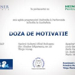 Afis Doza de motivatie cu logo extra